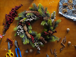 hand-made wreath- Berries and Spice