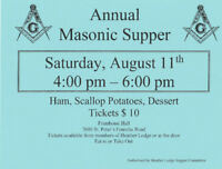 Annual Masonic Supper, Heather Lodge No. 124,Framboise