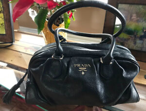 Vintage Doctor's Sachel Hand Bag with PRADA logo