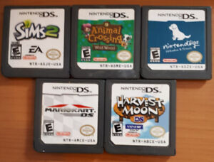 NINTENDO DS games and player Harvest Moon Mario Kart SIMS 2 plus