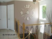 #10 white, 48''  oversized wall clock, barnwood or recycled wood