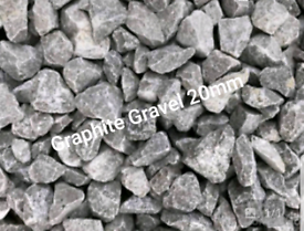 Decorative gravel aggregates cheap graphite gravel grey
