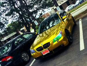 2007 BMW 5-Series Gold Chrome Wrapped : Head-turning Attention