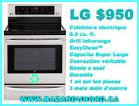 Cuisiniere electrique LG stainless steel remis a neuf