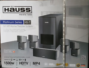 Hauss Platinum Series HS-7 -  5.1 HD Home Theater System