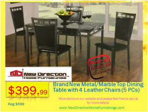★5-Pcs Dining Table Set★Super Easter Sale★@New Direction Home