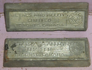 c1800s ingots ingot Toronto Canada Metal Alloys Limited Antique Kingston Kingston Area image 3