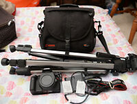 canon t2i camera + 2 batteries + tripod + bag, 350 FIRM