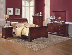 Dark Finish Bedroom Suite ONLY $1699.99 @ Yvonne's Furniture