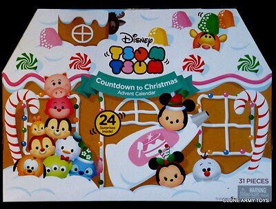 NEW Tsum Tsum Advent Calendar Countdown To Christmas Disney Store Vinyl Stack
