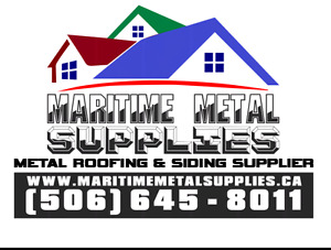 Metal roofing and siding supplies