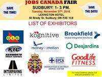 Sudbury Job Fair - November 27, 2018