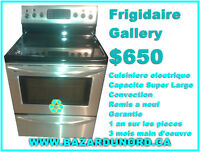 Cuisiniere electrique Frigidaire stainless steel remis a neuf