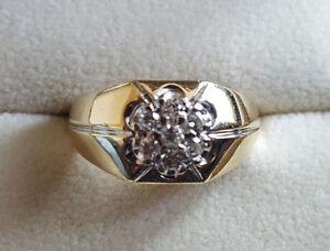 Men's 6 Gram, 10k Diamond Ring