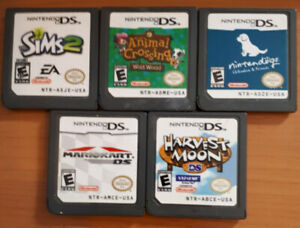 NINTENDO DS games and player Harvest Moon Mario Kart SIMS2 plus