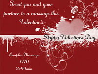Jess's Mobile Massage $10 off Valentine's Day Special