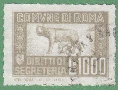 Italy Roma Munic Revenue Koeppel  138 Used 1000L Atel Roma Roulette 1965 Cv  70