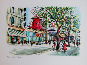 art4u2enjoy Vintage Lithograph by Ducollet Moulin Rouge 8