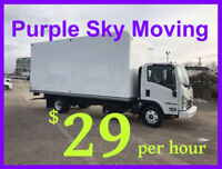 $29 per hour -- CHEAP -- MOVERS / MOVING -- Toronto and GTA