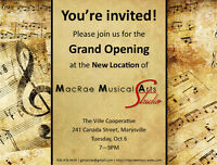 Grand Opening of MacRae Musical Arts Studio's New Location