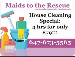 Great House Cleaning Special : 4hrs for only $79!!!  Call today!