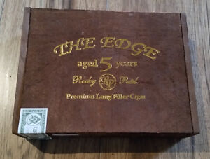 "Wood Empty Cigar Box Rocky Patel ""The Edge"""