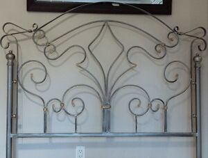 Pewter Double Bed - Head & Foot Frame West Island Greater Montréal image 2