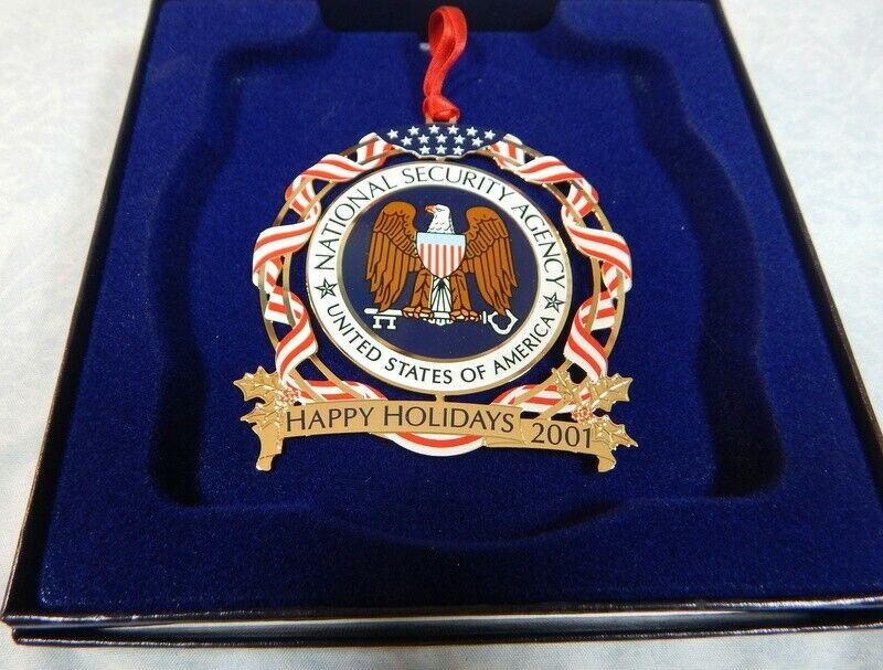 NSA National Security Agency 2001 Christmas ornament