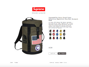 Supreme x North Face - Olive Big Haul Backpack
