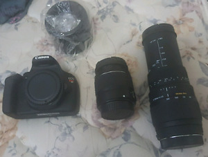 Canon rebel T5 DSLR With 70 * 300 mm lense
