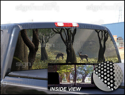 P80 Deer Hunting Rear Window Tint Graphic Decal Wrap Back Pickup Graphics ()