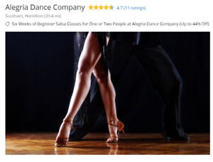 Six Weeks of Beginner Salsa Classes for Two People