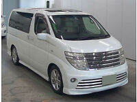 FRESH IMPORT 2004 PLATE NISSAN ELGRAND RIDER AUTEC 3.5 V6 AUTO SWITCH ABLE 4WD
