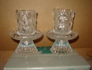 NEW PartyLite Crystal Votive/Taper Candle Holders