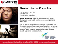 Mental Health First Aid, Parry Sound, Canadore College
