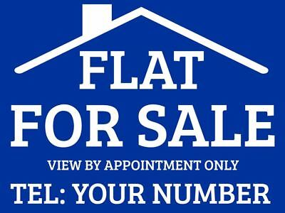 Flat For Sale sign boards x2