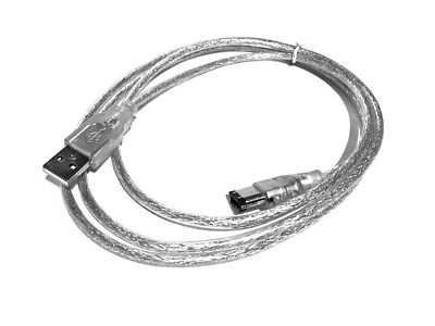 USB MALE TO IEEE 1394 6 PIN FIREWIRE VIDEO TRAVEL SHIELDING CABLE...