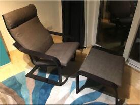 Wooden Lounging Rocker Deck Rocking Chair Relaxing Recliner Seat & Leg Rest
