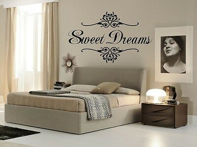 Home Decoration - SWEET DREAMS  Wall Art Decal Girls Quote Vinyl Home Decor Words Lettering 17x24