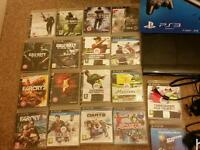Playstation 3 500gb and 18 games