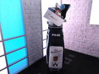 Magic Breakfast: Golf Club Set and Golf Balls Signed by Lee Westwood