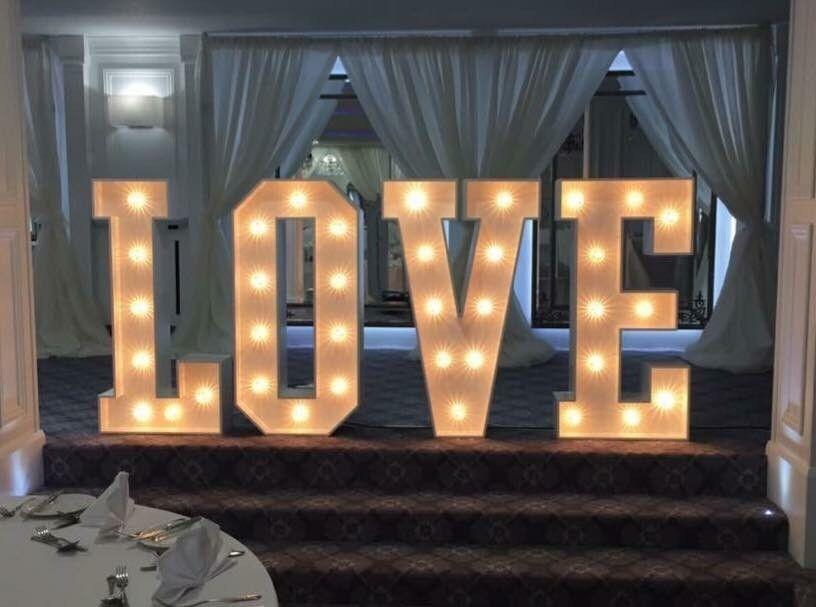 GIANT love letters 4ft wedding