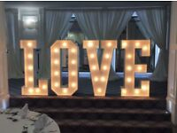 GIANT love letters 4ft wedding
