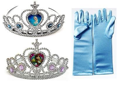 NEW FROZEN ELSA ANNA RHINESTONE TIARA CROWN GLOVES FOR GIRLS COSTUME COSPLAY - Anna Crown Frozen