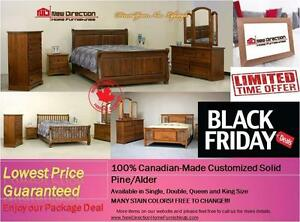 Brand New Canadian-Made Solid Wood Customized Bedroom Set@New Direction Home Furnishings