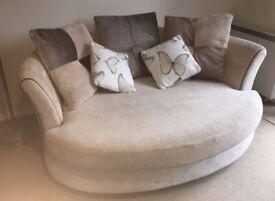 2 Seater Beige DFS Cuddler Sofa