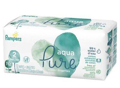 Pampers Aqua Pure Baby Wipes 2 Flip-Top Packs
