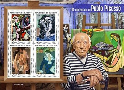 Djibouti 2021 MNH Art Stamps Pablo Picasso Paintings 4v M/S