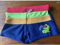 Boy's Pex Swimming Trunks Shorts Size 2-3 Years, Navy Blue, Red & Green Dinosaur
