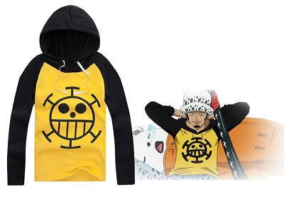 One Piece Trafalgar Law Hoodie Sweatshirt Long-Sleeve Sweater Cosplay Costume Cosplay One Piece